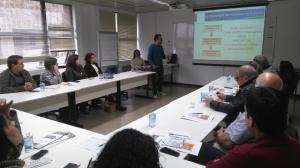 Representantes das equipes de projetos Sustentabilidade na Cadeia de Valor e Incentivos Fiscais do CPCE
