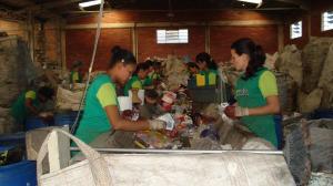 Em Campo Largo, os alunos aprenderam sobre a importância da reciclagem
