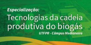 Especialização em Tecnologias da Cadeia Produtiva do Biogás