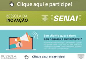 O Senai está lançando a Bússola da Inovação e Bússola da sustentabilidade!!